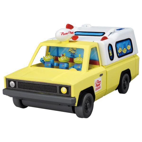 TOMICA 多美小汽車 / 迪士尼 / 玩具總動員 三眼怪披薩餐車組  TOMICA,多美小汽車,迪士尼,玩具總動員,三眼怪,披薩車