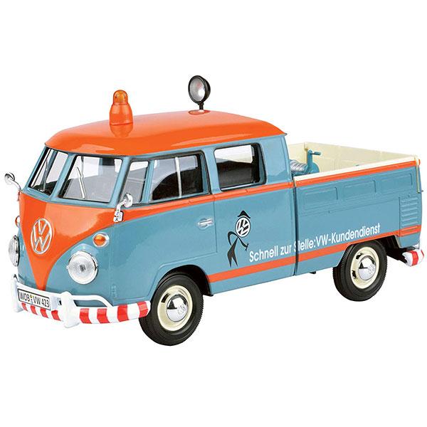 Motormax / 1/24 / 福斯小貨卡救助車 / Volkswagen Type 2 T1 藍橘 合金完成品 Motormax,1/24,福斯,貨卡,救助車,Volkswagen Type 2 T1,藍橘