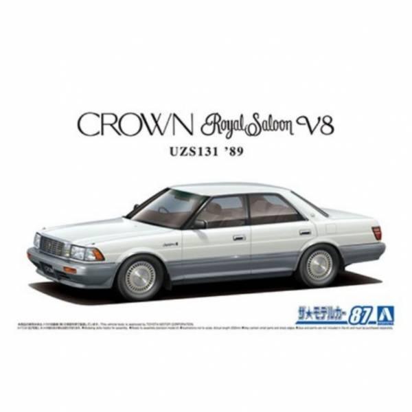 AOSHIMA 1/24 模型車 #87 豐田Crown UZS131 ROYALSALOON G '89 組裝模型 AOSHIMA,124,模型車,87,豐田,Crown,UZS131,ROYALSALOON G 89