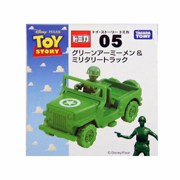 TOMICA 多美小汽車 夢幻系列 迪士尼 玩具總動員 05 綠色小士兵+軍事車 TOMICA ,多美小汽車, 夢幻系列 迪士尼 玩具總動員