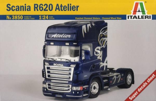 ITALERI 義大利模型 1/24 NO.3850 Scania R620 Atelier 組裝模型 ITALERI,義大利模型,1/24,NO.3850,Scania R620 Atelier,組裝模型