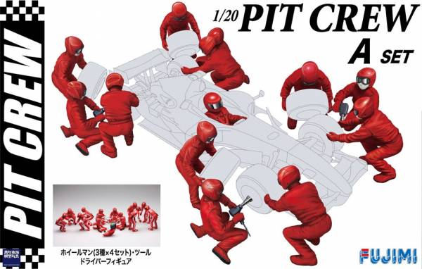 1/20 PIT CREW 維修區工作人員組 A set FUJIMI GT20 富士美 組裝模型 FUJIMI,1/20,PIT,CREW,GP,F1,