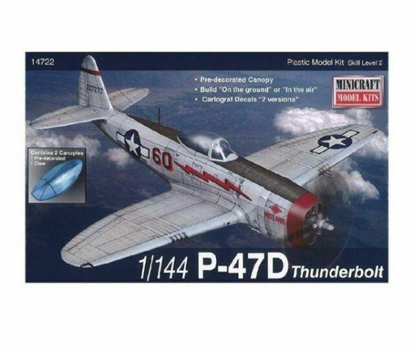 Minicraft 1/144 美國空軍 WW.II 美空 P-47D 雷霆式戰鬥機 MC14722 組裝模型 Minicraft,1/144,美國空軍,WW.II,美空,P-47D,雷霆式戰鬥機,MC14722,組裝模型,