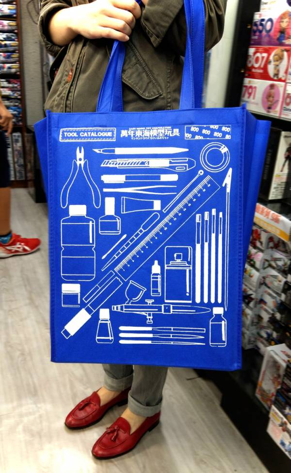 [現貨單限定滿額購]東海限定購物袋 模型玩家購物必備 工具圖案印花 不織布環保袋 大容量 32x43cm 模型玩家購物必備,工具圖案印花,不織布環保袋,大容量