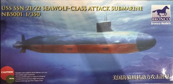 威駿BRONCO 1/350 美國海狼級核動力攻擊潛艇 組裝模型 威駿,BRONCO, 1/350, 美國海狼級核動力攻擊潛艇, 組裝模型