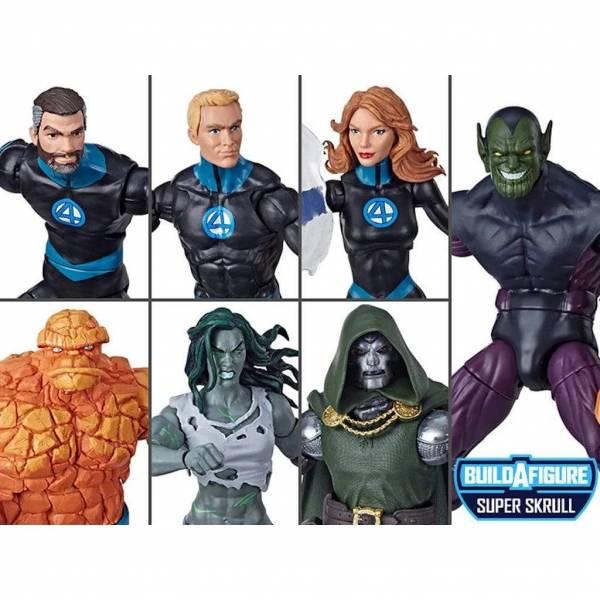 Hasbro 孩之寶 MARVEL LEGENDS 漫威MARVEL 驚奇四超人套組 可合體超級史克魯爾人 可動公仔 Hasbro,孩之寶,漫威,MARVEL LEGENDS,驚奇四超人,超級史克魯爾人