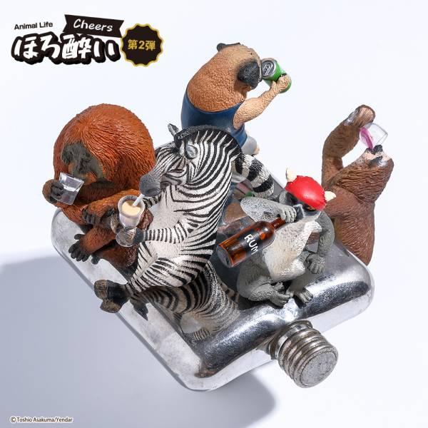 Yendar 盒玩 ANIMAL LIFE 朝隈俊男 買醉人生Part.2 全4+1種 一中盒6入販售 Yenda,ANIMAL LIFE,朝隈俊男,圓滾滾系列,Say Cheese,第二彈