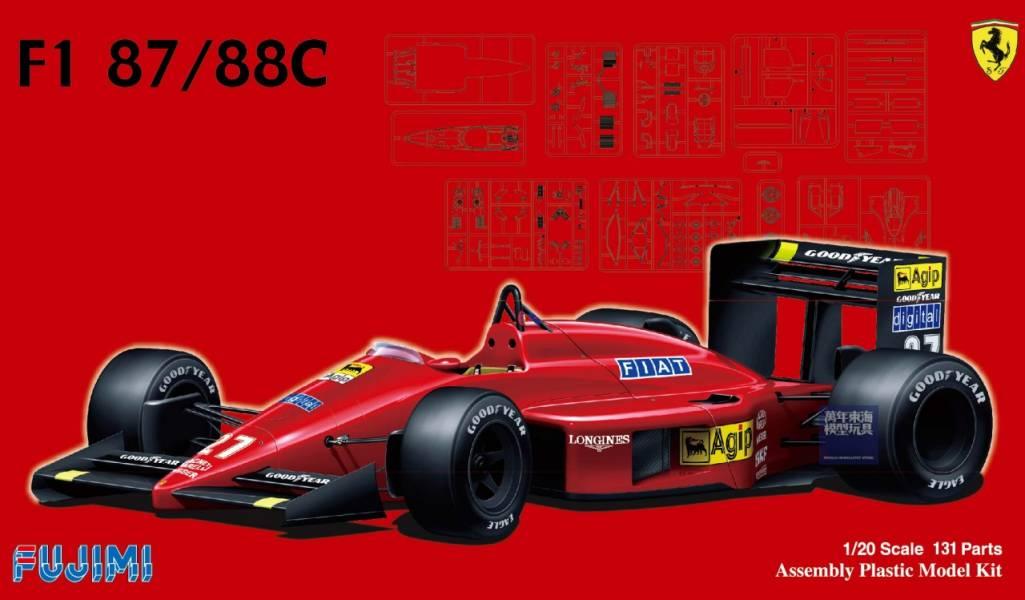 1/20 Ferrari F1-87/88C GP FUJIMI GP6 富士美 組裝模型 FUJIMI,1/20,GP,Ferrari,F1-87,88C,