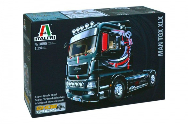 ITALERI 義大利模型 1/24 NO.3895 MAN TGX XLX Plastic Model Kit 組裝模型 ITALERI,義大利模型,1/24,NO.3895,MAN TGX XLX Plastic Model Kit,組裝模型