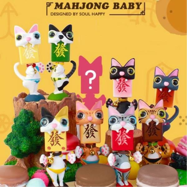 52Toys / 盒玩 / 麻將BABY第2彈 貓發 / 全8+1隱藏種 一中盒8入販售 52Toys,盒玩,麻將BABY,貓發