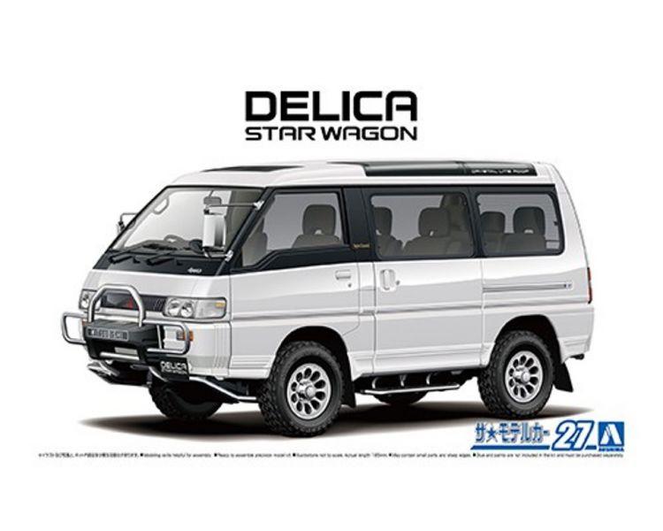 AOSHIMA 1/24 模型車 NO.27 三菱 P35W 得利卡廂車 '91 組裝模型 AOSHIMA,124,模型車 NO27,三菱,P35W 得利卡,廂車 91