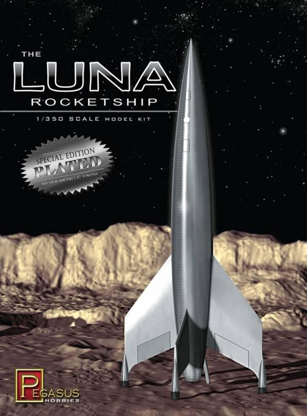 Pegasus 1/350 Luna火箭 鍍銀仕様 PH9310 組裝模型 Pegasus,1/350,Luna火箭,鍍銀仕様,PH9310,組裝模型,