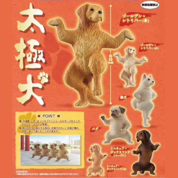 BANDAI 扭蛋 太極犬 全6種 隨機8入販售 BANDAI,扭蛋,轉蛋,太極犬
