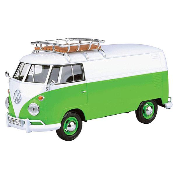 Motormax / 1/24 / 福斯胖卡車 / Volkswagen Type 2 T1 綠色 合金完成品 Motormax,1/24,福斯,胖卡, Volkswagen Type 2 T1