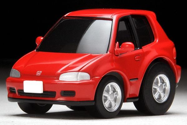 TOMYTEC / Q ZERO 迴力賽車 / Z-61a / 本田 HONDA Civic SiR-II 紅色 TOMYTEC,Q ZERO,迴力賽車,Z-61a,本田,HONDA Civic SiR-II