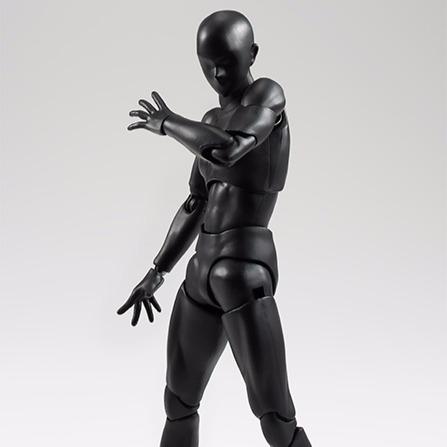 BANDAI S.H.Figuarts SHF 男素體 純黑Ver Solid black Color Ver.   素體,黑色,SHF