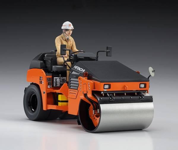 [再販] HASEGAWA 1/35 日立建機 壓路機 ZC50C-5 組裝模型 1/12,HASEGAWA,長谷川,完全新金型,Suzuki,GT380 B,組裝模型