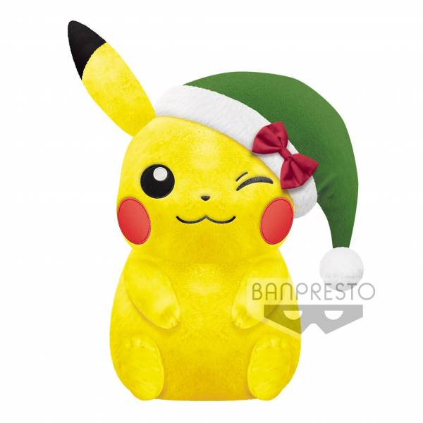 BANPRESTO / 景品 / 神奇寶貝 / 精靈寶可夢 / 皮卡丘 / 超大聖誕節玩偶 BANPRESTO,景品,神奇寶貝,精靈寶可夢,皮卡丘,超大聖誕節玩偶