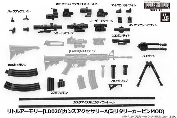 Tomytec / 1/12 / 迷你武裝 / LD020 / 槍機零件組A Tomytec,1/12,迷你武裝,LD020,槍機零件組A