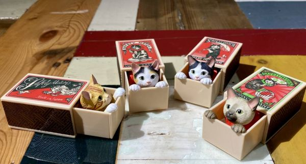 KITAN CLUB 扭蛋 船橋Tutomu火柴盒貓 全4種販售 KITAN CLUB,扭蛋,船橋Tutomu,火柴盒貓