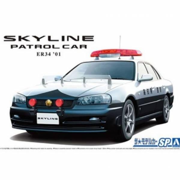 AOSHIMA 1/24 日產Skyline ER34 巡邏車 '01 組裝模型 AOSHIMA,1/24,日產,Skyline,ER34,巡邏車,',01,組裝,模型,