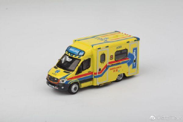 TINY / 1/64 / 賓士 Sprinter救護車 A503 TOYSOUL會場限定 合金完成品 TINY,1/64,賓士,Sprinter救護車,A503,TOYSOUL