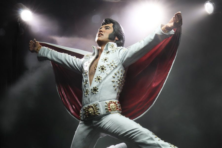 NECA 貓王Elvis Presley Live演唱會1972 7吋公仔 NECA,Elvis Presley,Live 1972,公仔