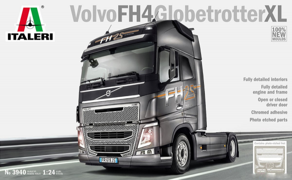 ITALERI 義大利模型 1/24 NO.3940 Volvo FH4 Globetrotter XL 組裝模型 ITALERI,義大利模型,1/24,NO.3940,Volvo FH4 Globetrotter XL,組裝模型