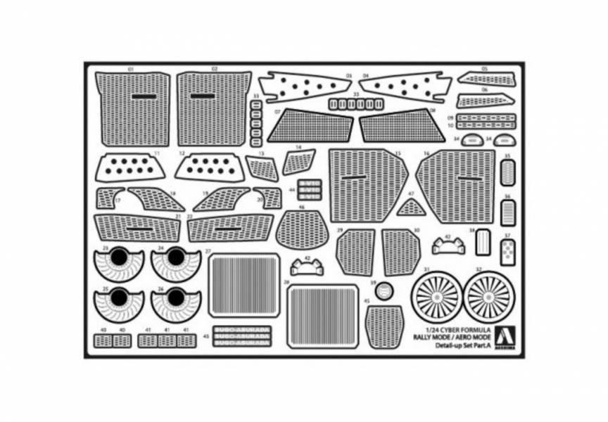 AOSHIMA 青島 1/24 閃電霹靂車 阿斯拉G.S.X 越野/氣流模式 共通零件組 AOSHIMA,青島,1/24,閃電霹靂車,阿斯拉G.S.X 越野 氣流模式,共通零件組