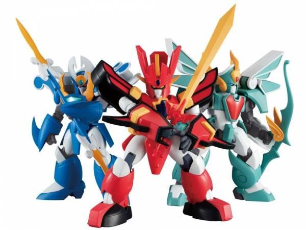 MegaHouse / Variable Action MINI / 魔動王 火王 水王 風王 3入套組 MegaHouse,Variable Action,MINI,魔動王,魔動火王,水王,風王