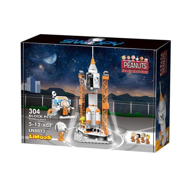 LiNoos 積木 史努比70週年 太空系列 火箭發射站 LiNoos,積木,史努比,70週年,太空系列,火箭發射站