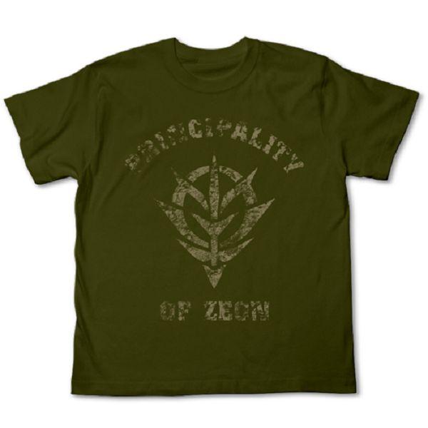 COSPA 機動戰士鋼彈 吉翁公國 短袖T恤 苔綠 COSPA,機動戰士鋼彈,吉翁公國,短袖T恤
