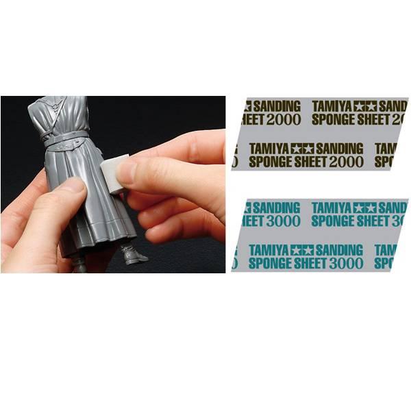 TAMIYA 田宮 #87171 模型黏合處修整拋光專用海綿砂紙 #3000 TAMIYA,田宮,87171,模型黏合處修整拋光專用海綿砂紙,3000