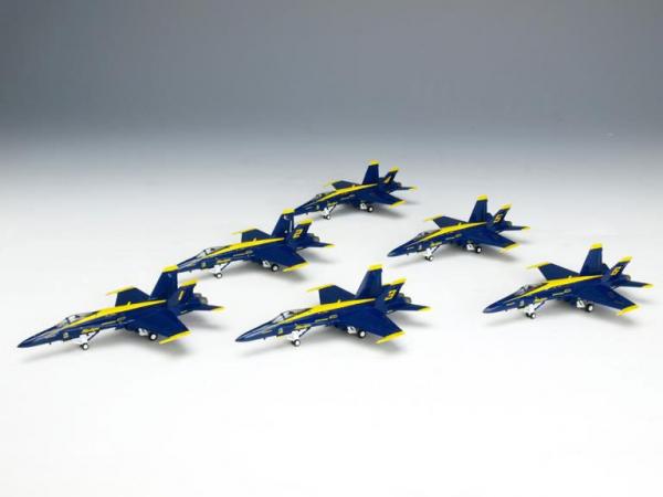 Hogan Wings 1/200 HOGAN BLUE ANGELS 6 PLAUE F/A-18A 6入飛機組  金屬完成品 Hogan Wings,1/200,HOGAN BLUE ANGELS,6 PLAUE F/A-18A