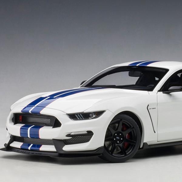 AUTOart / 1/18 / 福特Ford Shelby GT350R 牛津白 閃電藍飾紋 合金模型 AUTOart,1/18,福特,Ford Shelby,GT350R,牛津白,閃電藍飾紋