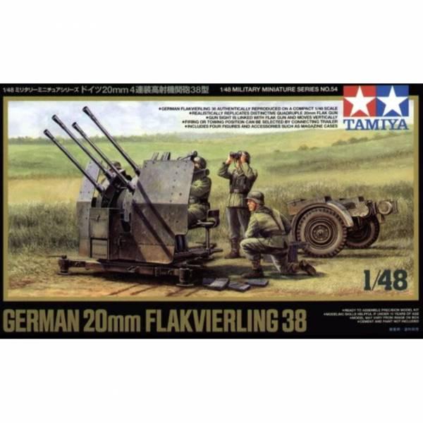 TAMIYA 田宮 1/48 #32554 德式48 20mm 4雙高射砲 German 20mm Flakvierling 38 TAMIYA,田宮,1/48,32554,德式48,20mm,雙高射砲,German,20mm,Flakvierling 38