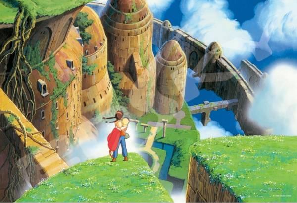 ENSKY / 拼圖系列 / 吉卜力工作室 / 天空之城 落下的兩人  降り立つ二人 300片 ENSKY,拼圖,吉卜力,天空之城,落下的兩人, 降り立つ二人