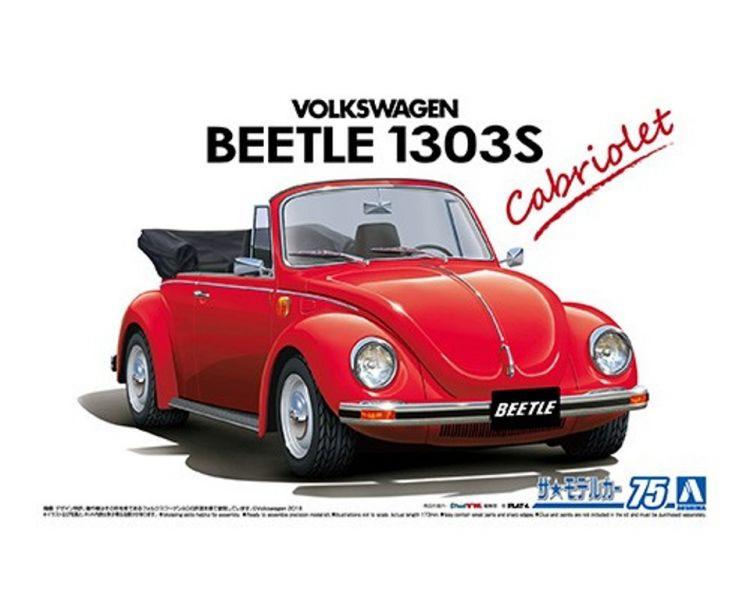 AOSHIMA 青島 1/24 #75 福斯 15ADK Beetle 1303S '75 敞篷車 組裝模型 AOSHIMA,青島,1/24,#,75,福斯,15,A,DK,Beetle,1303,S,',75,敞篷車,組裝,模型,