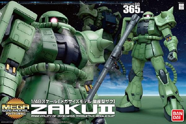 [6月再販] BANDAI MEGA SIZE 1/48 MS-06F ZAKU II 量產型薩克 綠薩克 機動戰士鋼彈 組裝模型 BANDAI,MEGA SIZE,1/48,MS-06F ZAKU II,綠薩克,量產型薩克