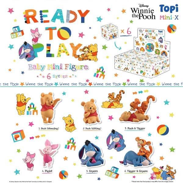 千值練 Topi 迪士尼 小熊維尼家族 Mini baby 公仔系列 全6種 一中盒販售 千值練,Topi,迪士尼,小熊維尼家族,Mini baby,公仔系列