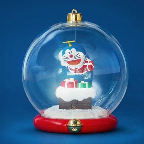 Macott Station 哆啦a夢 聖誕水晶球 C款 哆啦a夢送禮物 Macott Station,哆啦a夢,聖誕水晶球,聖誕老人