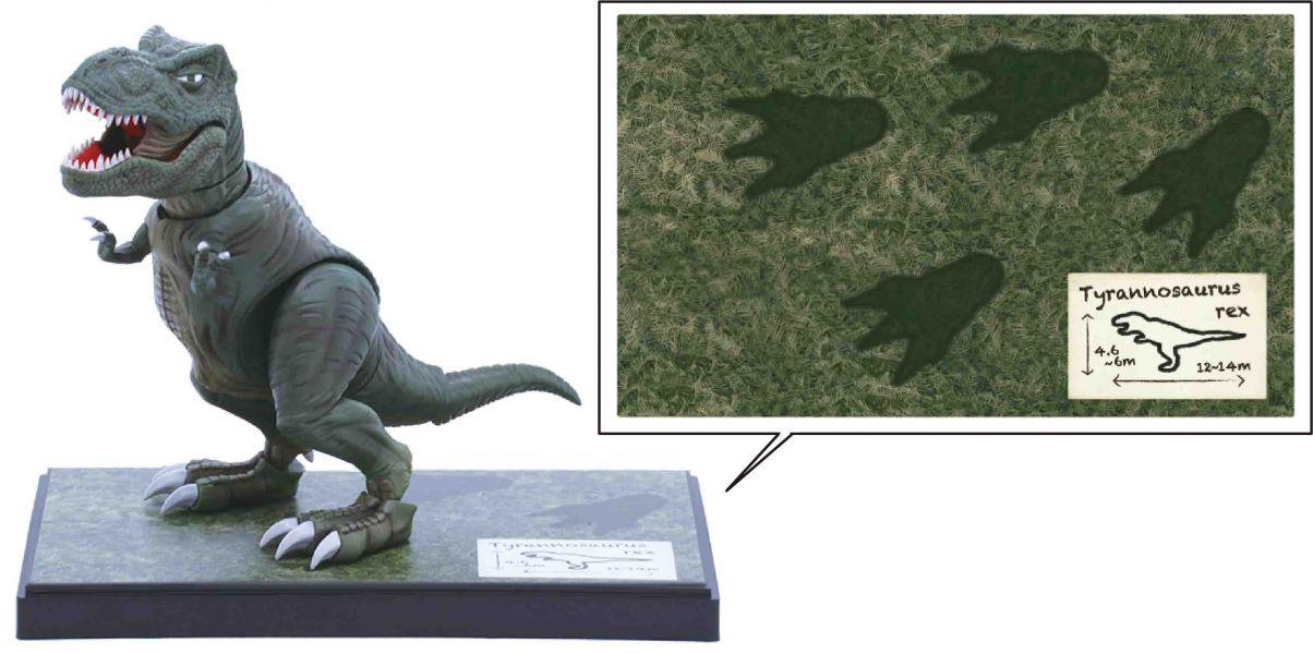 Tyrannosaurus 暴龍 付塗裝完成展示台座 FUJIMI 自由研究1EX1 恐龍編 富士美 組裝模型 FUJIMI,自由研究,恐龍,Tyrannosaurus,暴龍,