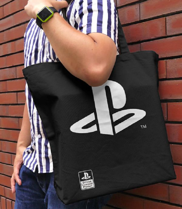 COSPA Sony PlayStation PS 大托特包 環保袋 黑色 COSPA,Sony PlayStation,PS ,大托特包,環保袋,黑色