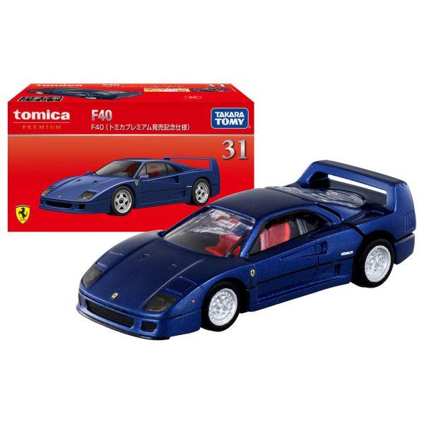 TOMICA 1/62 Premium 31 法拉利 F40 藍 Premium發售紀念仕樣  TOMICA,多美小汽車, 1/62,Premium,法拉利 F40