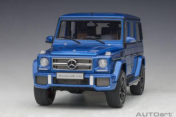 AUTOart / 1/18 / 賓士 MERCEDES-AMG G63 2017 DESIGNO MAURITIUS 藍色 / 合金模型 AUTOart,1/18,賓士,MERCEDES-AMG G63,2017,DESIGNO MAURITIUS,藍色