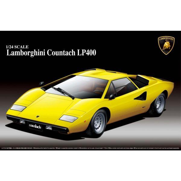 AOSHIMA / 青島 / 1/24 / 藍寶堅尼Lamborghini Countach LP400 組裝模型 AOSHIMA,青島,1/24,藍寶堅尼,Lamborghini Countach LP400,組裝模型