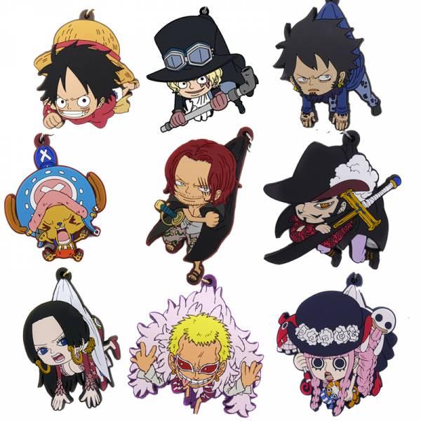 COSPA 海賊王 捏起來 角色軟膠鑰匙圈 全9款 各別販售 COSPA,海賊王,角色軟膠鑰匙圈,魯夫,艾斯,羅西南多