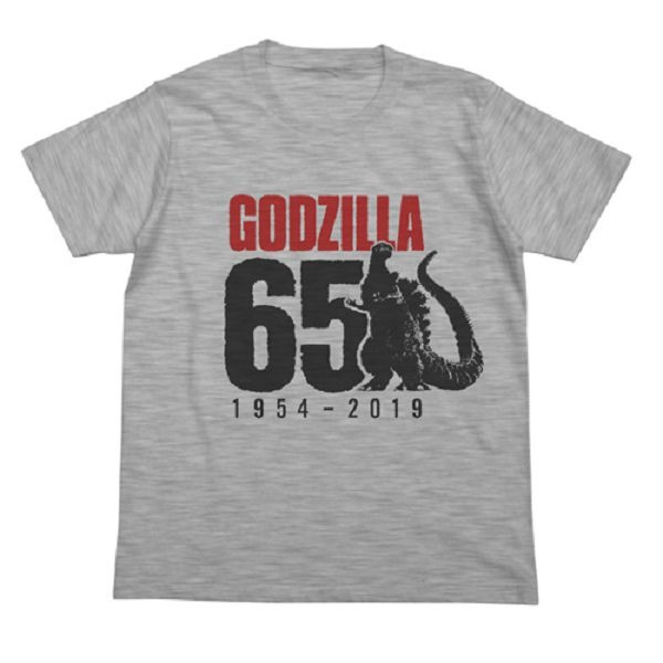 COSPA / 哥吉拉 / 哥吉拉65周年 短袖T恤 灰色 COSPA,哥吉拉II,怪獸之王,哥吉拉,短袖T恤