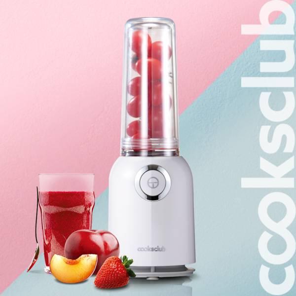 澳洲 Cooksclub  歡樂雙享輕巧果汁機 / 蔬果調理機 -活力白 (分體式分享杯/保溫杯) 果汁機,調理機,蔬果機,Cooksclub,澳洲,