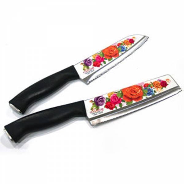 韓國 刀具組(鋸齒刀+主廚刀) Golden Rose 玫瑰天使刀具組 菜刀,主廚刀,鋸齒刀,韓國刀,韓國玫瑰刀,玫瑰天使刀,刀,刀子,玫瑰刀,造型刀